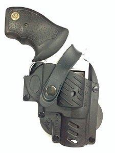 Coldre Destro de Polímero para Revolver 5 Tiros Só Coldres