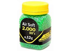 Esferas Plásticas BBs para AirSoft 2000un. 0,12g Combat