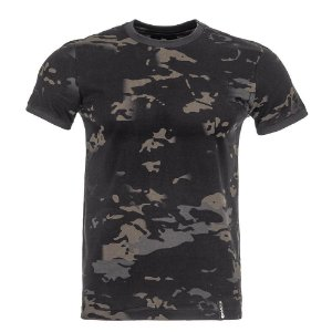 Camiseta T-Shirt Tech Camuflado Multicam Black Invictus