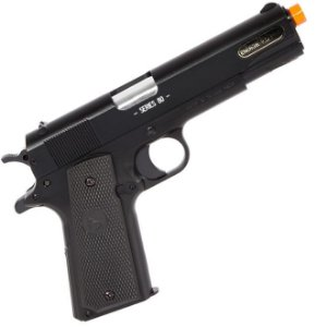 Pistola Airsoft Colt 1911 A1 Metal Slide CyberGun
