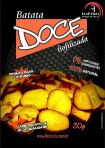 Snack de Batata Doce Liofoods NTK