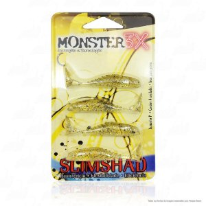 Isca Artificial Slimshad 4 Unidades Monster 3x