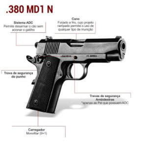 PISTOLA IMBEL  MD1 N