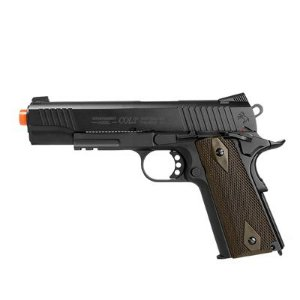 Pistola Airsoft Colt 1911 Rail Gun CO2 6mm Blowback CyberGun