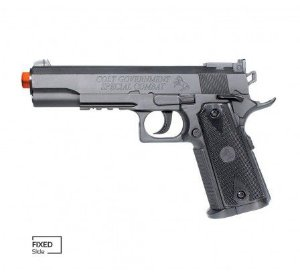 PISTOLA AIRSOFT COLT 1911 MATCH CO2 SLIDE FIXO 6MM CYBERGUN