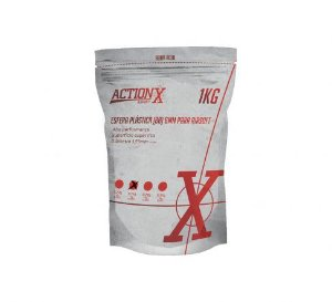 Esferas plásticas BBs para Airsoft 4000un. 0,25g - ActionX