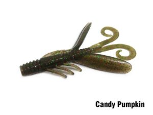 Isca Artificial Soft Water Strider Candy Pumpkin Monster 3x
