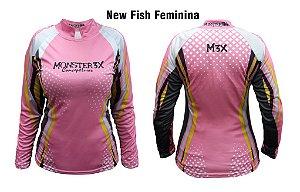 Camiseta de Pesca New Fish Feminina Monster 3x