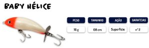 Isca Artificial 8cm Baby Hélice KV