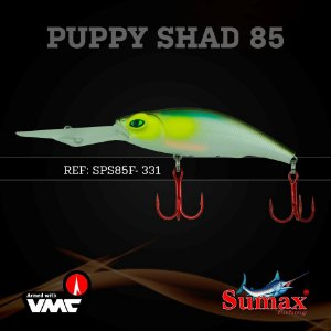Isca Artificial SPS Puppy Shad 85mm - Sumax