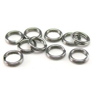 Cartela Com 10 Argolas Split Ring Inox Fishtex Nº1