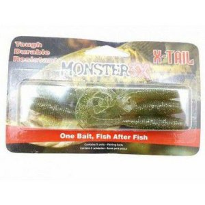 Isca Artificial Soft X-Tail 5 Unidades Monster 3x