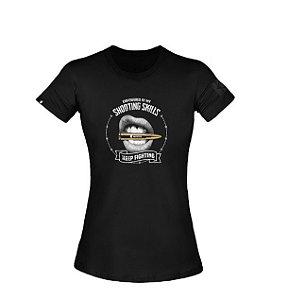 T-Shirt Concept Lips Feminina - Invictus