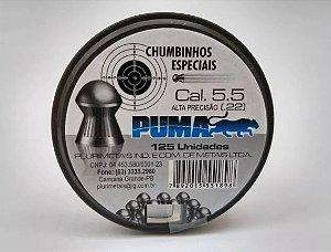 Chumbinho Puma 5,5mm C/125 Unidades