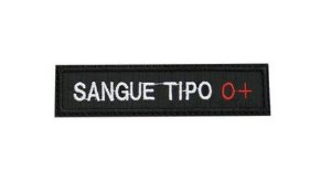 Patch Bordado Tipo Sanguíneo O+