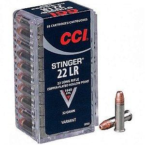 Munição Calibre 22 LR Stinger HP AMMO