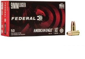 Munição Calibre 9mm LUGER 147 GR FMJ - Federal