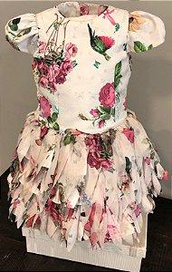 Vestido floral fru fru