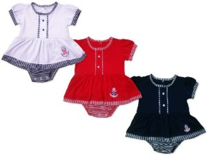 Body Vestido Marinheira Baby Passo a Passo [Unidade]