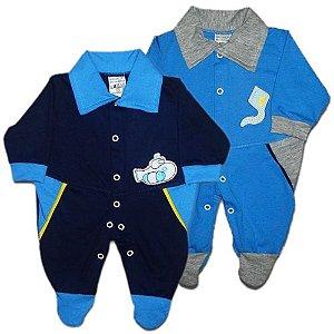 Macacão em Malha Little Boy 100% algodão Prematuro Baby Passo a Passo [Unidade]