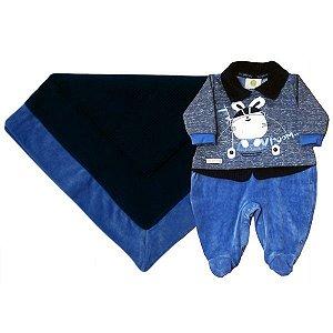 Saída da Maternidade Vroom Azul Ref.: 0108 - By Gabriely
