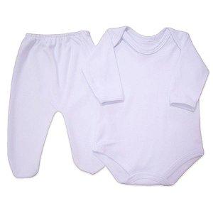 Conjunto de Body e Calça em Suedine 100% algodão - Prematuro - Baby Passo a Passo