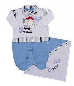 Saída da Maternidade - Azul - Baseball - Star - Ref.: 596