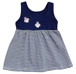Vestido Listrado Joaninha - Tamanho - 1, 2 e 3  Baby Passo a Passo