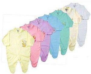 Macacão em Malha 100% algodão Baby Passo a Passo [Unidade]