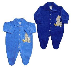 Macacão em  Plush Baby - Baby Passo a Passo