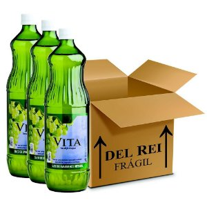 Suco De Uva Vita Branco Integral 1l - Box Com 12 Unidades