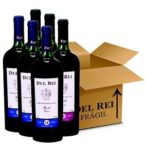 Box Misto - Vinho Del Rei com 60 Tinto Suave Bordo + 60 Rose Suave 1l - Box Com 120 Unidades