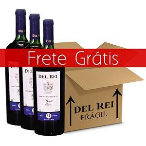 Vinho Del Rei Tinto Suave Bordo 1l - Box Com 12 Unidades - Frete Grátis
