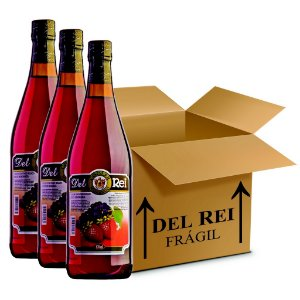 Cooler De Morango 870ml - Box Com 12 Unidades