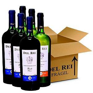 Box Misto - Vinho Del Rei com 60 Tinto Suave Bordo + 60 Branco Suave Niagara 1l - Box Com 120 Unidades