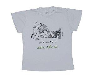 Camiseta algodão Pássaro Livre -Baby look