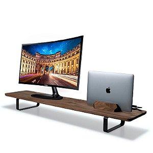 Stand Desk Suporte Monitor Madeira