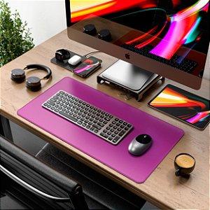 Mouse Pad Em Couro Pink 60x30 Cm