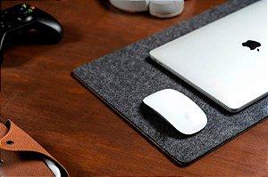 Desk Pad Feltro de Lã Com Cortiça 90x30 Cm