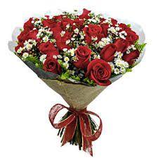 Buquê com 20 rosas