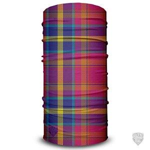 Bandana Tubular Huzze-Rag Xadrez Colorido
