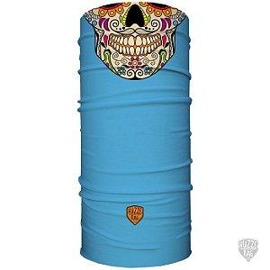Bandana Tubular Huzze-Rag Caveira Mexicana Azul