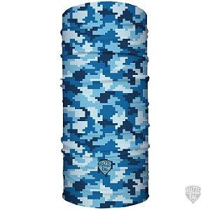 Bandana Tubular Huzze-Rag Quadricular Blue