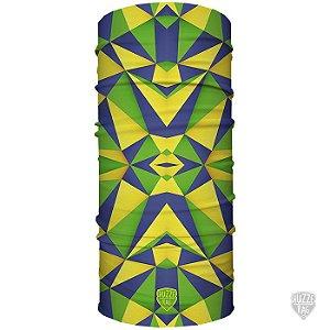 Bandana Tubular Huzze-Rag Edição Futebol - Brasil Geométrico