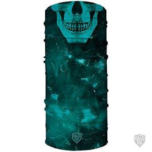 Bandana Tubular Huzze-Rag Eletric Skull Azul
