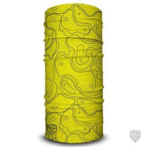 Bandana Tubular Huzze-Rag Topografia Amarelo