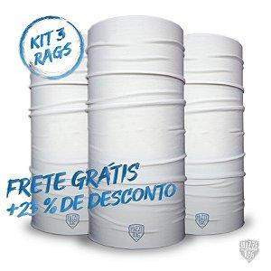 Bandana Huzze-Rag Branca - Kit 3