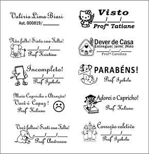 kit para professores 10 carimbos