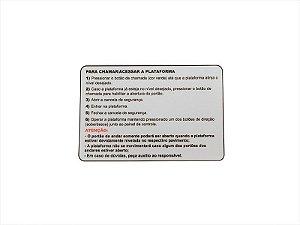 33685R - ADESIVO CHAMADA/ACESSO PLATAFORMA