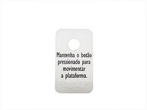 52206R - ADESIVO BOTÃO DE CHAMADA PORTA AC08 BRAILE (90 x 150)